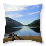 Fishing Conkle Lake Throw Pillow