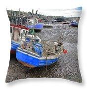 Fishing Fleet - Paddy's Hole Throw Pillow