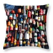 Fishing Floats Throw Pillow