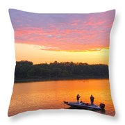 Fishing For Gold Throw Pillow