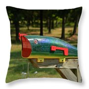 Fishing Lure Mailbox 2 Throw Pillow