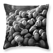 Fishing Nets And Buoys Throw Pillow