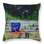 Fishing On Memorial Day Throw Pillow