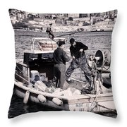Fishing On The Golden Horn Throw Pillow by Joan Carroll