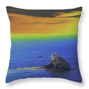 Fishing On The Ocean Throw Pillow