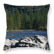Fishing Spot Throw Pillow