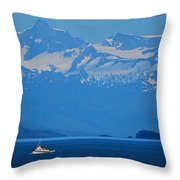 Fishing The Inside Passage Throw Pillow