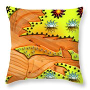 Fishing Under The Stars Throw Pillow