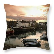 Fishing Village In Ireland Throw Pillow