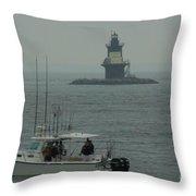 Fishing Weather Throw Pillow