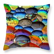 Fishy Bubbles Throw Pillow
