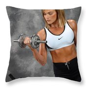 Fitness 5 Throw Pillow