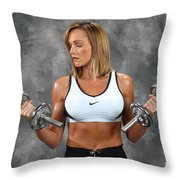 Fitness 8 Throw Pillow