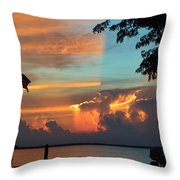 Fitting Sunset Throw Pillow