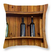 Five Bottles Throw Pillow by Carlos Caetano