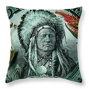 Five Bucks  Throw Pillow