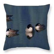 Five Geese Napping Throw Pillow