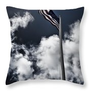 Flag In Hdr Throw Pillow