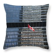 Flag In The City Throw Pillow