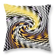 Flagged Throw Pillow