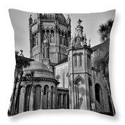 Flagler Memorial Presbyterian Church 3 - Bw Throw Pillow