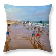 Flags And Reflections Throw Pillow