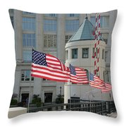 Flags On The Avenue Throw Pillow