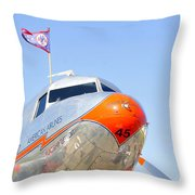 Flagship Detroit Work Number One Throw Pillow