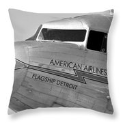 Flagship Detroit Work Number Seven Throw Pillow