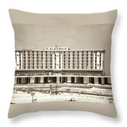 Flagship Hotel Throw Pillow