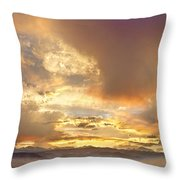 Flagstaff Fire Sky Boulder Colorado Throw Pillow