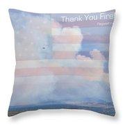 Flagstaff Fire  Thank You Firefighters Throw Pillow