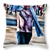 Flamboyant Fan Throw Pillow