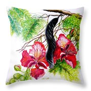 Flamboyant Throw Pillow