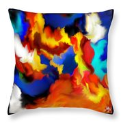Flame Feathers Throw Pillow