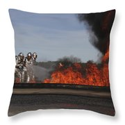 Flames Billow Out Of The Burn Pit Throw Pillow