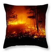 Flames From A Forest Fire Light Throw Pillow