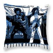 Flaming Blue Telepaths 2 Throw Pillow