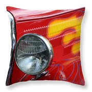 Flaming Hot Rod 2 Throw Pillow