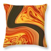 Flaming River Throw Pillow