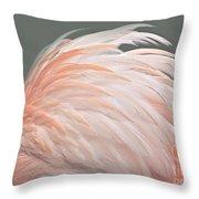 Flamingo Feather Details Throw Pillow