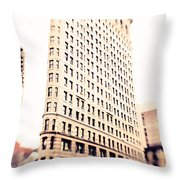 Flatiron Building Nyc Throw Pillow