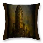 Flatiron Building...my View..revised Throw Pillow