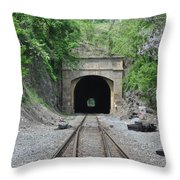Flatrock Tunnel Throw Pillow