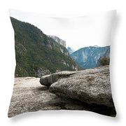 Flattop Rock Yosemite Throw Pillow