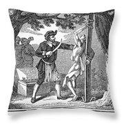 Flaying Of Christian Throw Pillow