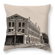 Fleetwood Autobody Factory Throw Pillow