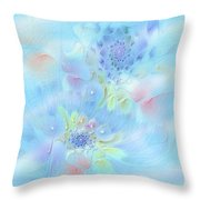 Fleur De Fantasm Throw Pillow