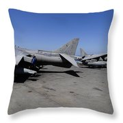 Flight Deck Personnel Reposition Av-8b Throw Pillow