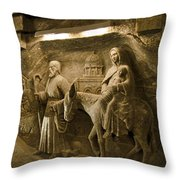 Flight Into Egypt - Wieliczka Salt Mine Throw Pillow